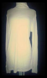 White super long sleeve Zara blouse